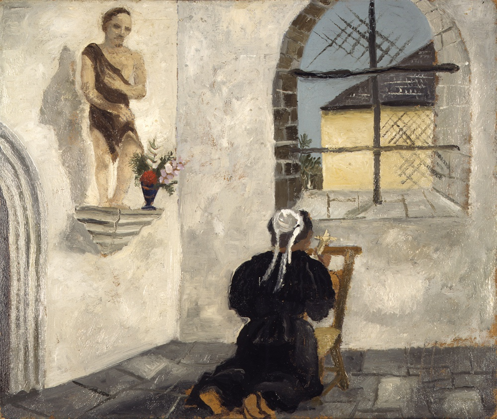 <p>Christopher Wood (1901-1930), <em>Breton Woman at Prayer,</em> 1930</p>