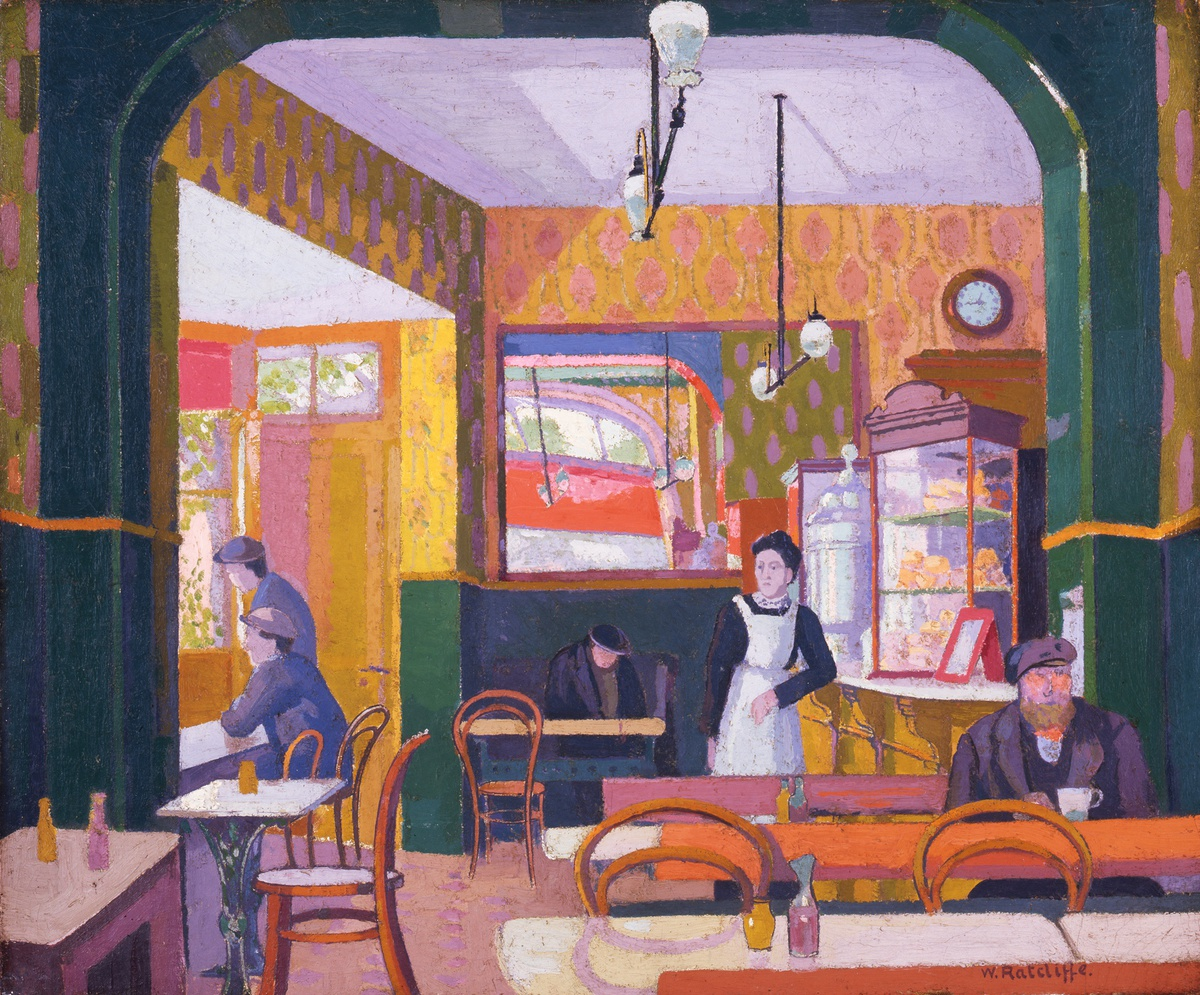 <p>William Ratcliffe (1870-1955), The Coffee House, 1914. Image&#160;&#169;&#160;The Artist's Estate.</p>