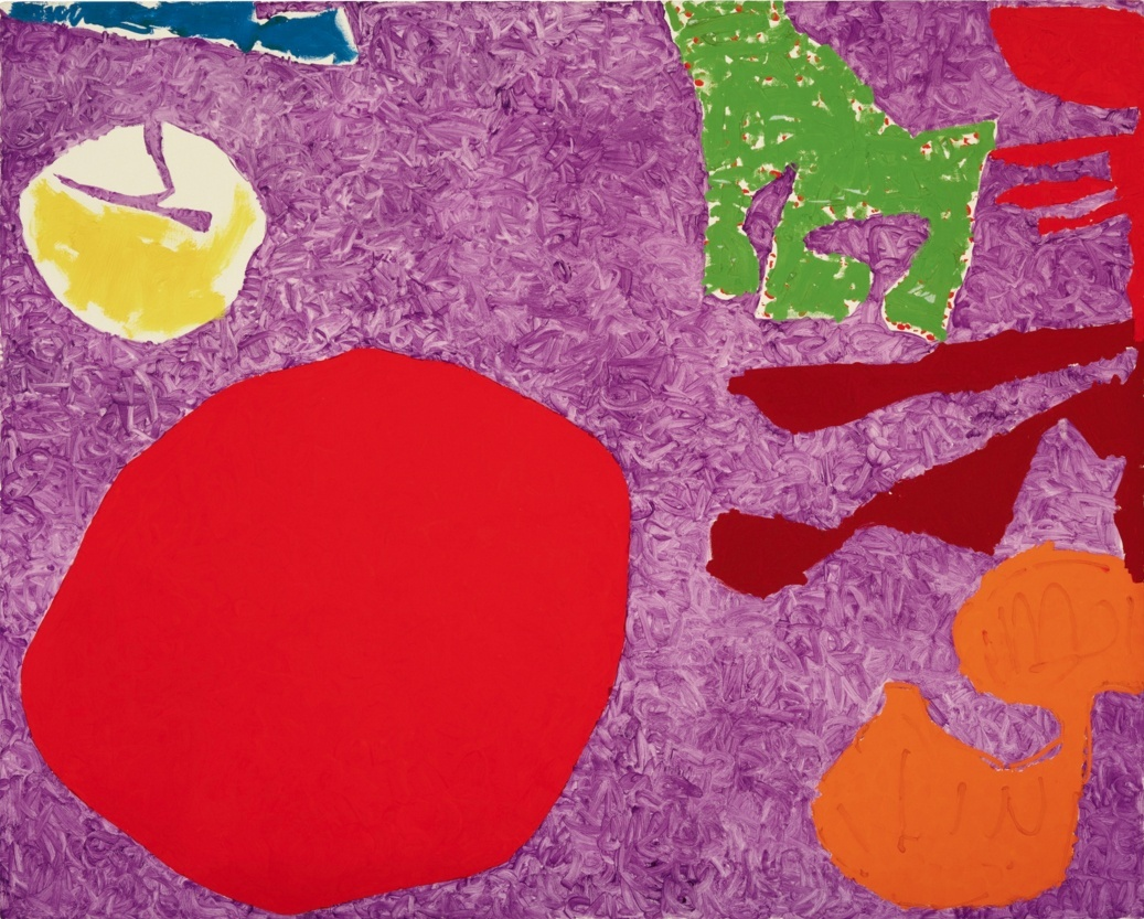 Patrick Heron  Scarlet Disc in Rough Violet: December 1982  oil on canvas  48 x 60 in / 122 x 152.5 cm