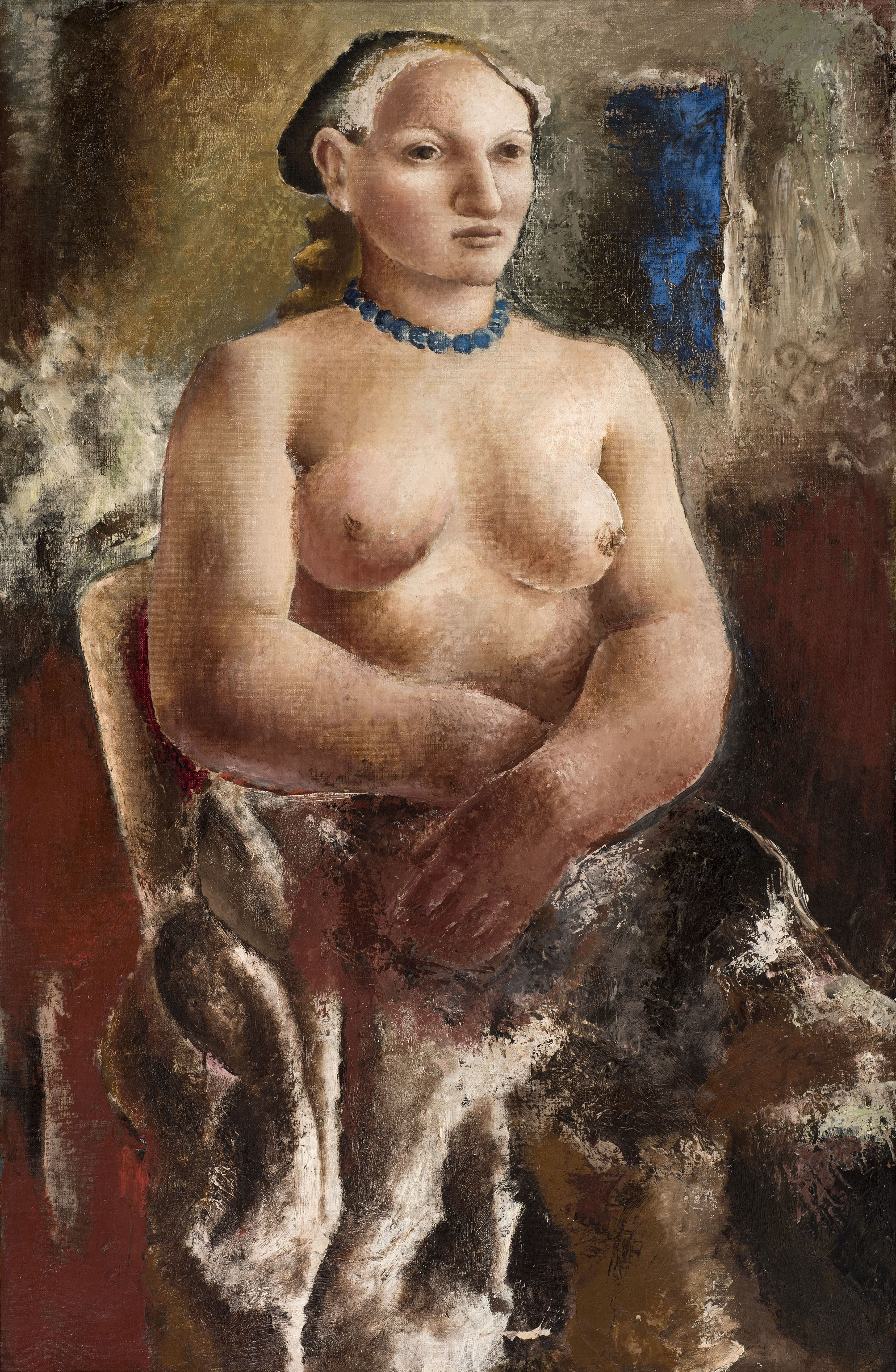 Christopher Wood The Blue Necklace (Portrait of Frosca Munster) 1928